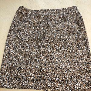 J crew leopard print skirt